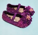 Coastal Projections Purple Sparkly Sequin Girls Shoes 0 1 2 3 6 7