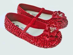 Coastal Projections Ruby Red Sequined Infant/Toddler Girls Dorothy Shoes
