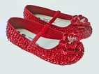 Coastal Projections Ruby Red Sequin Infant/Toddler Girls Dorothy Shoes