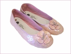 Coastal Projections Stunning Pink Sequined Ballet Shoes w/Flower 3Yth