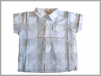 Confetti Adorable White & Grey Wide Check Shirt 2t 3t  Made in France