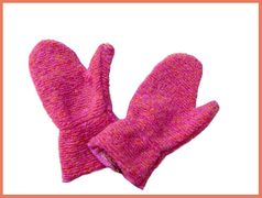"Corky & Co ""Fringe Benefits"" Fuschia Mittens Toddler"