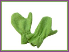 "Corky & Co ""Fringe Benefits"" Green Mittens Infant"