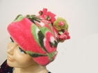 "Corky & Co "" Pucella"" Yummy Hot Pink & Green Flower Top Hat  ML"