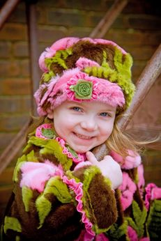 "Corky & Company ""Hibiscus"" Roll Top faux Fur Hat Infant"