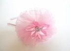 Couture Clips Stunning Pink Tulle Bow w/princess Crown  Clip Or Headband