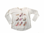 Creamie Adorable Little Fashionista Tee w/Shoes 4 5 6