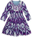 Cupcakes & Pastries Tiered Maxi Ikat Dress w/Silver Detail 5 8