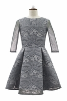 David Charles Grey lace Overlay Tween party Dress 13 14