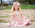 Dolls & Divas Blush Pink Sequined Drop Waist Girls Dress 2T 5 6 6x