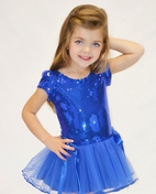 Dolls & Divas Exquisite Blue Sequined Girls Holiday dress  24m