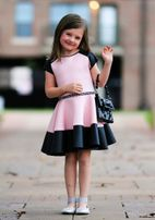 Dolls & Divas Gorgeous Pink & Black Girls Lilith Dress *Top Seller*