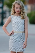Dolls & Divas Ivory & Gold Tween Girls Dress *Top Seller* 10 Last 1
