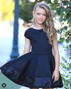 Dolls & Divas Lilith Elegant Black Sequin Daddy Daughter Dance Dress