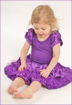 "Dolls & Divas ""Niki"" Stunning Purple Rosettes Girls  Dress  18M"