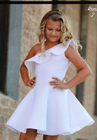 Dolls & Divas White Off-Shoulder Father Daughter Dance Tween Dress 14 16