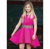e58e237bb Dolls & Divas Strawberry Pink Hi Low Girls Dress Daddy Daughter Dance