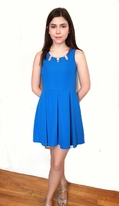 Elisa B Beautiful Royal Blue Pleated Skirt Tween/Junior Dress 18
