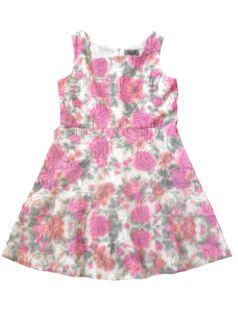 Elisa B Beautiful Fit & Flare Laser Cut Roses Tween Dress