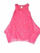 Elisa B Neon Pink Sparkly Hi-Lo Hem Tween Dress 7