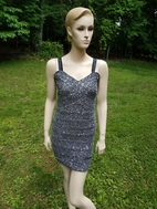 Elisa B Silver Mesh Tween & Junior Girls Cocktail/Dance Dress 16 18 20