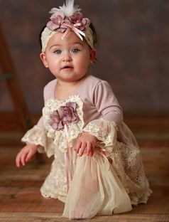 Frilly Frocks Anna Belle Heirloom Infant Girls Dress  24m