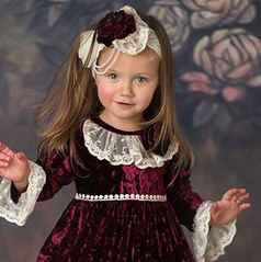 "Frilly Frocks ""Victoria"" Girls Headband  4/8 last 1"