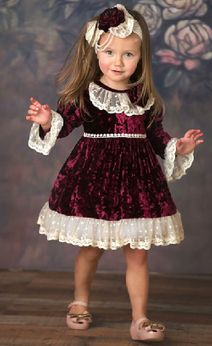 """Frilly Frocks 'Victoria"""" Infant Girls Holiday Dress  18m 24m"""