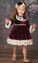 "Frilly Frocks 'Victoria"" Infant Girls Holiday Dress  18m 24m"