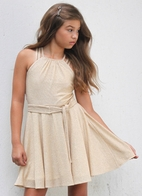 "Gigi Ri ""Ariana"" Sparkly Gold Tween Party Dress 14"