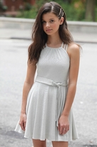 "Gigi Ri ""Ariana"" Silver Sparkly Tween Dress  12 Last 1"