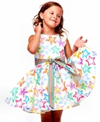 Halabaloo All Stars Girls Fit & Flare Party Dress 2T 7