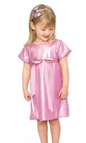 Halabaloo Pink Sequined Girls Holiday Dress 12m