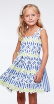 Halabaloo Blue Rows of Flowers Spring  Girls Dress *Top Seller*