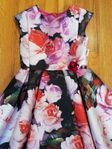 Halabaloo Pink & Red Roses Toddler & Little Girls Dress 2T  4T 4 6X
