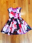 Halabaloo Pink & Red Roses Toddler & Little Girls Dress 2T 4T 6X