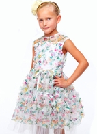 Halabaloo Flower Bouquet Luxurious Girls Dress *Top Seller*