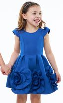 Halabaloo Midnight Blue Girls Dress w/Rosettes