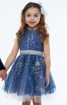 Halabaloo Blue Tulle Glitter Stars Girls Holiday Dress