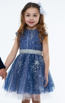 Halabaloo Blue Tulle Glitter Stars Girls Holiday Dress *Top Seller*
