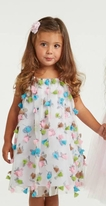 Halabaloo Adorable Pink & Blue Infant Rosebuds Dress 12m 18m