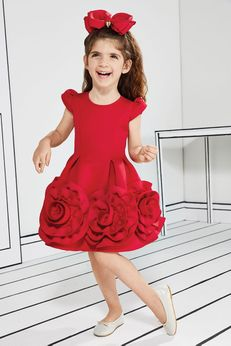 Halabaloo Red Rosettes Girls Party Dress 6x Last 1
