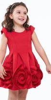 Halabaloo Red Holiday Rosettes Hem Dress