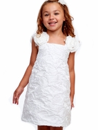 Halabaloo White Roses SummerSpecial Occasion Girls Dress