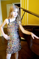 Hannah Banana Sparkly Multi Sequin Tween Dress 14 16