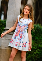 Hannah Banana Butterfly Girls Skater Dress  7 14