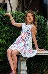 Hannah Banana Butterfly Girls Skater Dress  3T 6x 7 14