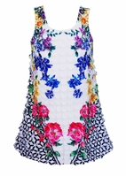 Hannah Banana Beautiful Circle Petal Spring Floral Dress 4