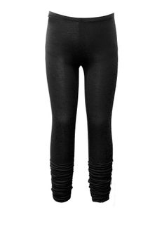 Hannah Banana Black Ruched Hem Girls Leggings  4