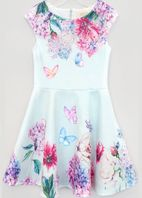 Hannah Banana Girls Jewelled Floral Skater Dress *Top Seller*